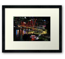 Kurilpa Pedestrian Bridge. Brisbane, Queensland, Australia Framed Print