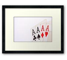 Aces Poker Framed Print