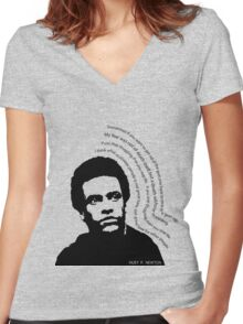 huey p. newton Women's Fitted V-Neck T-Shirt