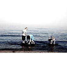 Beach Kids Photographic Print