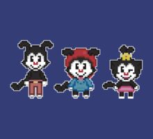 Animaniacs - Yakko, Wakko, & Dot Warner Chibi Pixels by geekmythology
