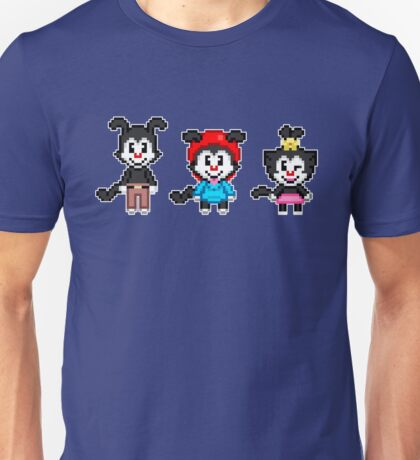 Animaniacs - Yakko, Wakko, & Dot Warner Chibi Pixels Unisex T-Shirt