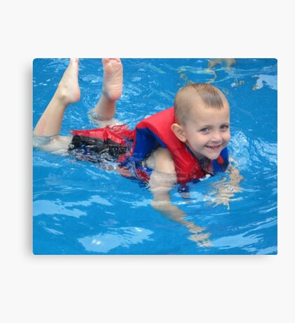 Swim, Caden, Swim Canvas Print