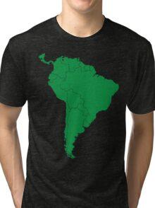 Blank green South America map Tri-blend T-Shirt