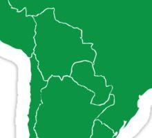 Blank green South America map Sticker