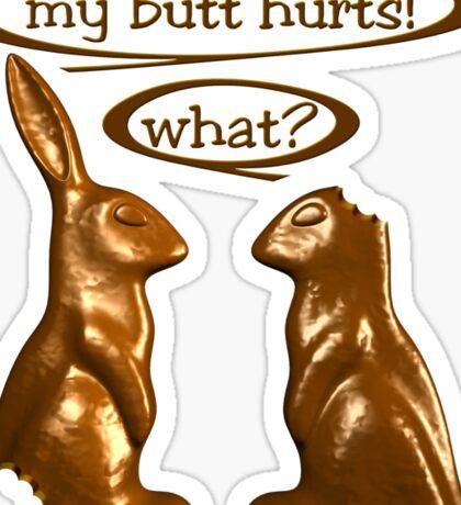 Chocolate Easter Bunnies Sticker