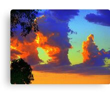 Clouds of Heavens Painted Brush Canvas Print