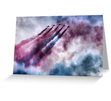 painting the sky RAF style Greeting Card