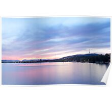 A sunset in April - Lake Burley Griffin ACT, Australia Poster