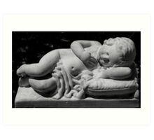 Sleeping baby Art Print