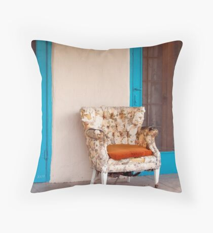 Summertime Blues Throw Pillow