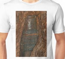 0406 Ned Kelly Armour buried in old tree trunk Unisex T-Shirt
