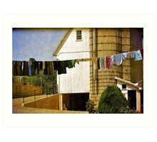 Amish Laundry - Or - How The Amish Go Online Art Print