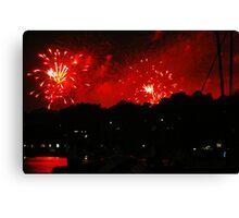 Fireworks over Birkenhead Point Canvas Print