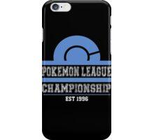 Pokemon League Championship - BLUE iPhone Case/Skin