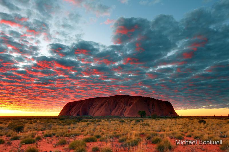 Ayers Rock (Uluru) Sunrise, Australia by Michael Boniwell