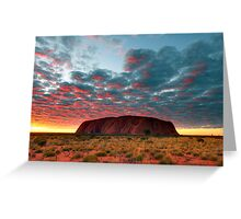 Ayers Rock (Uluru) Sunrise, Australia Greeting Card