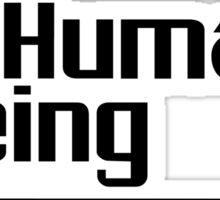 Human being (black version)  Sticker