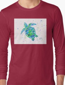 Sea Turtle by Jan Marvin Long Sleeve T-Shirt