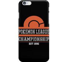 Pokemon League Championship - ORANGE iPhone Case/Skin
