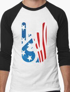 Rockin' USA Men's Baseball ¾ T-Shirt