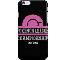 Pokemon League Championship - PINK iPhone Case/Skin