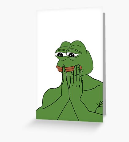 Pepe The Frog Greeting Card