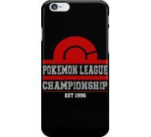 Pokemon League Championship - RED iPhone Case/Skin