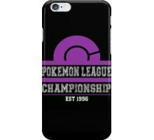 Pokemon League Championship - PURPLE iPhone Case/Skin