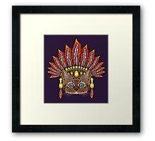 Leopard Kitten: Aztec Chief  Framed Print