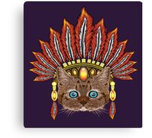 Leopard Kitten: Aztec Chief  Canvas Print
