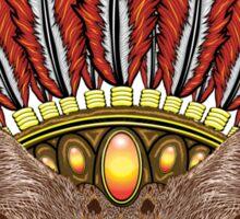Leopard Kitten: Aztec Chief  Sticker