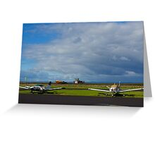 Why are they inactive?. Tooradin airport. Australia. Greeting Card