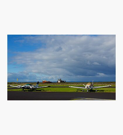 Why are they inactive?. Tooradin airport. Australia. Photographic Print