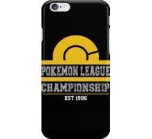 Pokemon League Championship - YELLOW iPhone Case/Skin