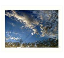 """Popcorn Clouds"" Art Print"