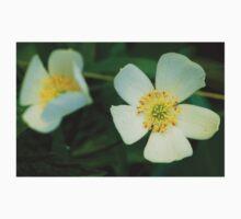 Dewy White Anemone Wildflowers One Piece - Short Sleeve