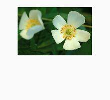 Dewy White Anemone Wildflowers Unisex T-Shirt