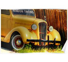 yellow  classic used for advertising-front side view Poster