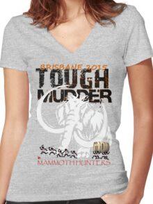 TOUGH MUDDER T-SHIRT 2015 BRISBANE Women's Fitted V-Neck T-Shirt