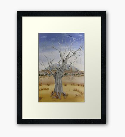 """The Old Gum Tree""  SOLD Framed Print"