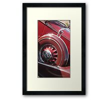 """Maroon Pierce"" Framed Print"