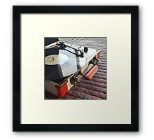 Record Player Framed Print