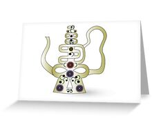 Chinese antique teapot Greeting Card