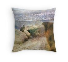 Moses and the Squirrel Throw Pillow