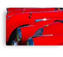 Will the owner of the red Jag...... Canvas Print