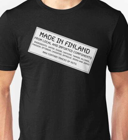 Traces of Nuts - Finland Unisex T-Shirt