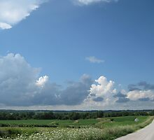 Cloudy Day Back Road by MsPeggyAnn