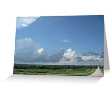 Cloudy Day Back Road Greeting Card