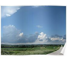 Cloudy Day Back Road Poster